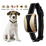 #4: LEOFFY Bark Collar, Dog Bark Collar Rainproof and Rechargeable Smart Detection Vibration/No Harm Shock/Beep Anti Bark Modes, 7 Adjustable Sensitivity for Medium Large dogs