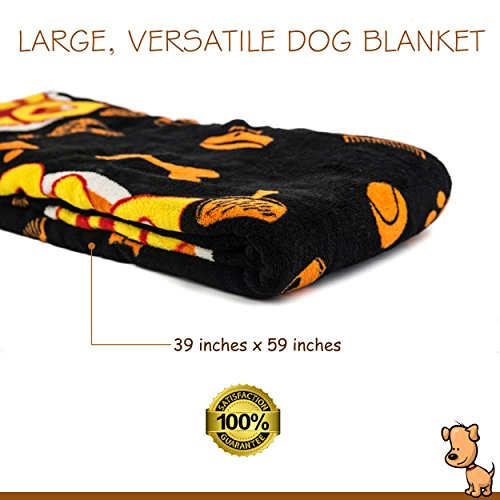 Deluxe Dog Blanket, 39x59'', Large, Super Soft Fleece, ''Top Dog'' Design, Machine-Washable, Perfect Gift for Dogs & Dog Lovers by Best of Breed Pet Care (Image #7)