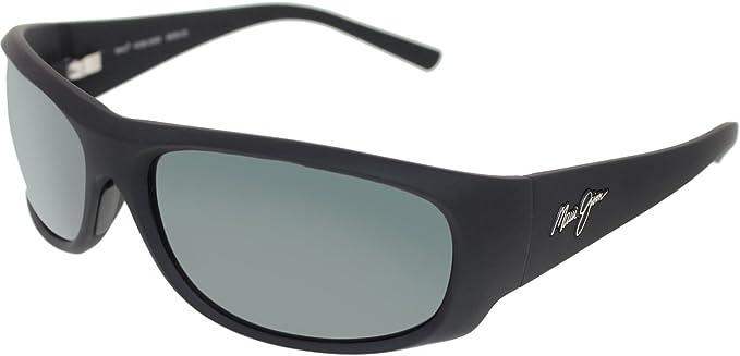 266f2b4770 Maui Jim Men s Polarized Ikaika 281-02MR Black Rectangle Sunglasses ...