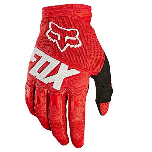 (Fox Racing Dirtpaw Race Big Boys' Off-Road Motorcycle Gloves - Red / Medium)