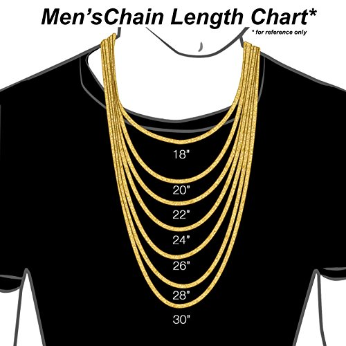18K Solid Yellow Gold Heavyweight 5.5mm Cuban Curb Link Chain Necklace- Italian Design- 30''-18 Karat by PORI JEWELERS (Image #4)