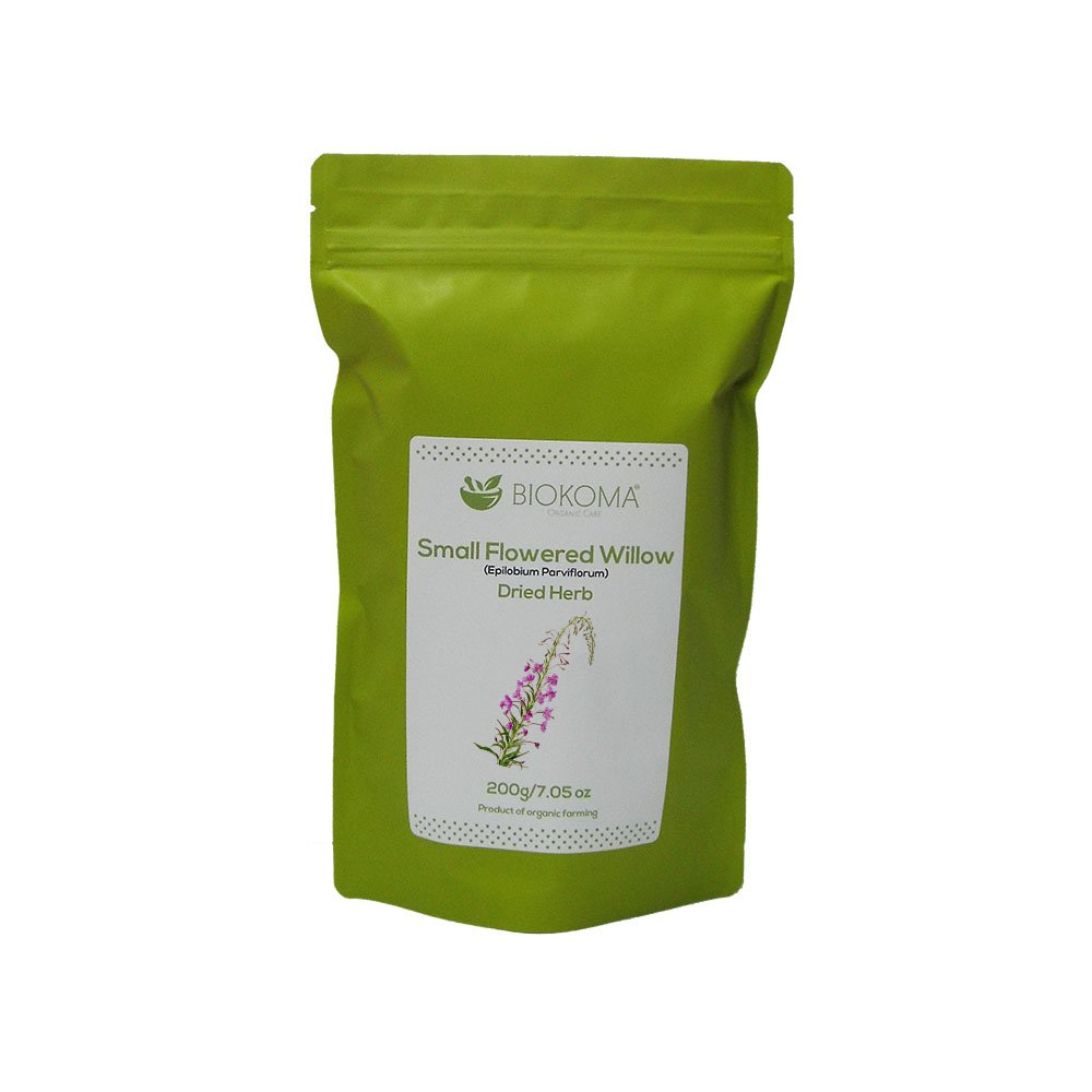 100% Pure and Organic Biokoma Small-Flowered Willow Dried Herb 200g (7.05oz) in Resealable Moisture Proof Pouch