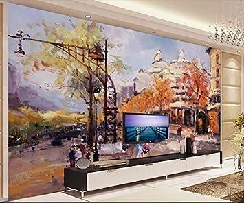 Street Hand Painting Wallpaper Papel de pared 3d Papel De ...