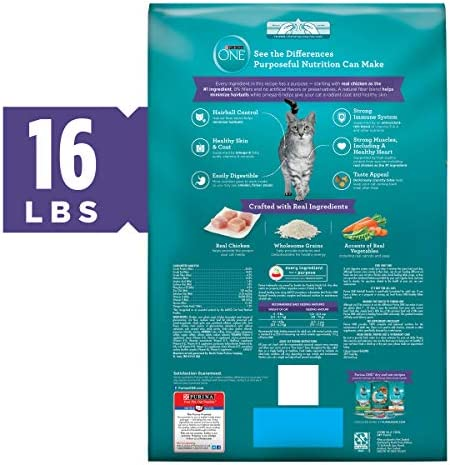 Purina ONE Hairball Formula Adult Dry Cat Food 4