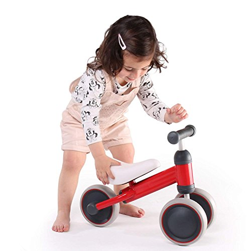 YesIndeed. Baby Balance Bike, Mini Bike, Bicycle for Children, 10-28 Months Toddler Tricycle Learn to Walk and Keep Balance. Boys and Girls Blue and Red. 4 Years (Mini Red Tricycle)