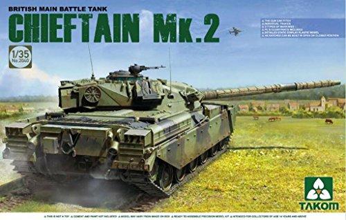 Main Tank British Battle (TAKom 1:35 British Main Battle Tank Chieftain Mk.2 Plastic Model Kit #2040)