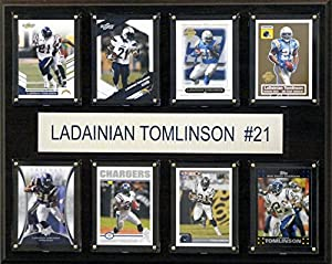 NFL San Diego Chargers Ladainian Tomlinson 8-Card Plaque, 12 x 15-Inch