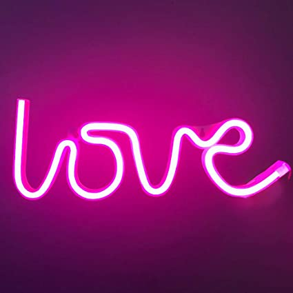 XIYUNTE Love Leuchtschilder Batterie oder USB betrieben Liebe Licht Dekoration f/ür Zuhause Kinderzimmer Party Bar Weihnachten LED Liebe Neonlicht Rosa Love Neonschild Wandlichter