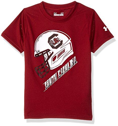 NCAA South Carolina Fighting Gamecocks Boys Helmet Short Sleeve T-Shirt, Size 4, Cardinal