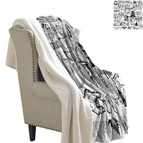 Acelik Baby Blanket Vintage Halloween Treat Party Machine Washable and Drier Safe W59 x L47]()
