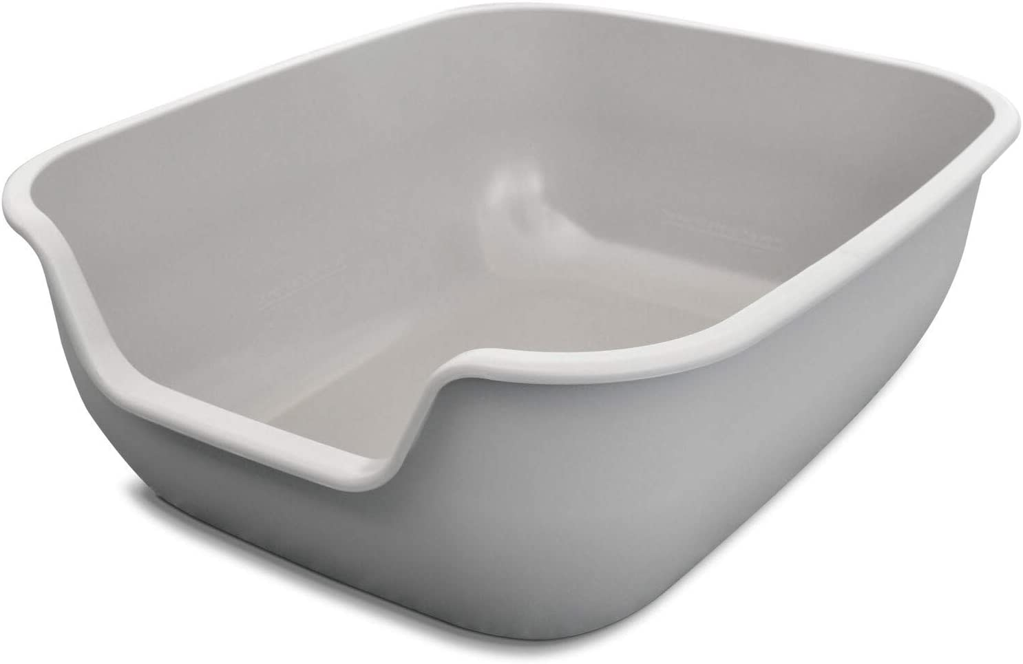 PetFusion Large Litter Box (the BetterBox). NON-STICK Coating (FDA, EPA approved) significantly reduces cleaning time. (Vets recommend open top litter box to avoid behavior issues associated with tight spaces and cat's stronger sense of smell)