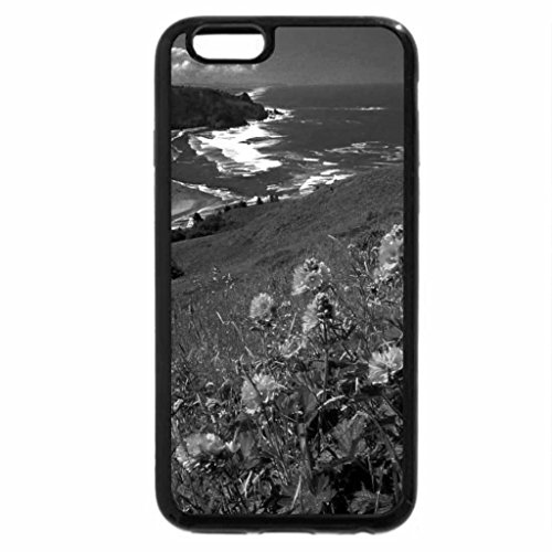 iPhone 6S Case, iPhone 6 Case (Black & White) - Summer view