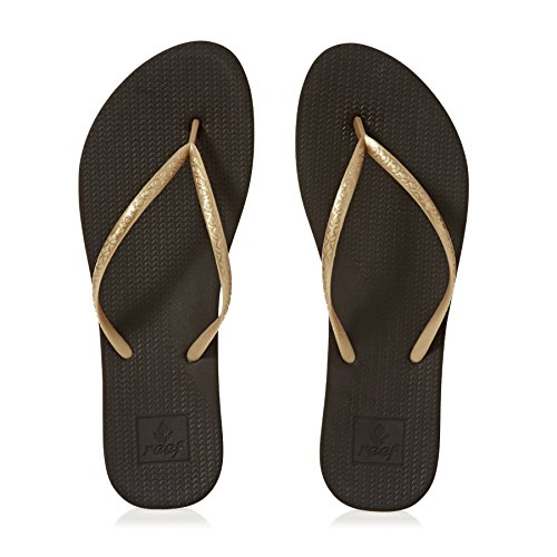 Flops Women's Gold Reef Lux Flip Escape Black IYadq
