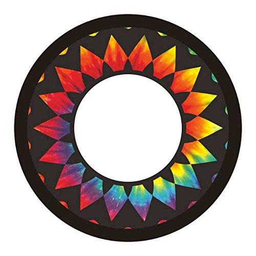 Kaleido Tie Dye Fabric Flying Ring Sempre Criativo Comercial