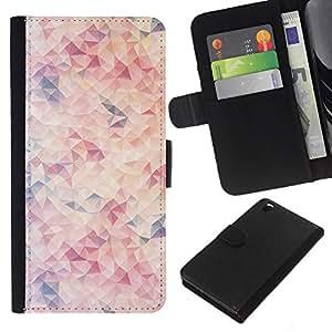 Stuss Case / Funda Carcasa PU de Cuero - Formas pastel Patr¨®n Colores Blanco - HTC DESIRE 816