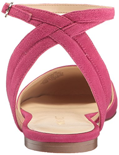 Balletto In Pelle Di Vitello Scamosciata Delle Nove Donne Dellovest Piatto Rosa
