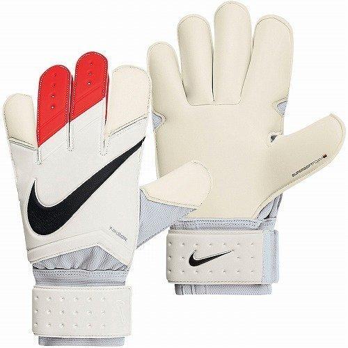 NIKE GK Grip3 Men's Soccer Gloves, White/Red, 11