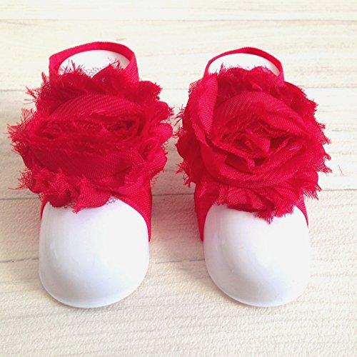 Accéssoire, apoyo pies, diseño de rosa, color rojo
