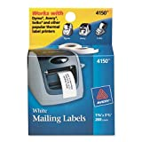 Avery Labels for Dymo Label Printers, Same Size as Dymo 30252, White, 1-1/8'' x 3-1/2'', 2 Rolls of 130 (4150)