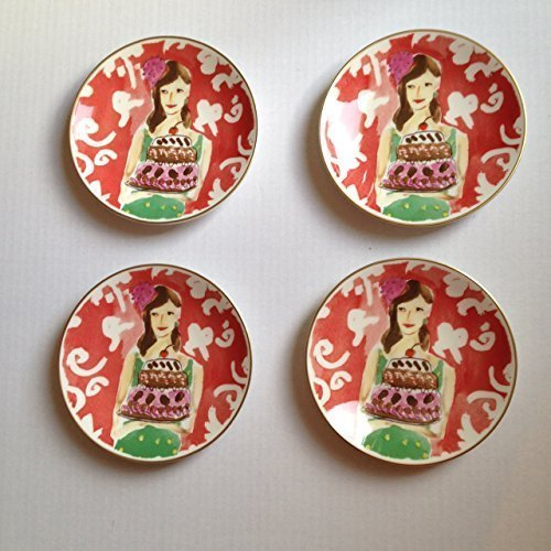 Lenox Illustrated Just Desserts Tidbit Plates Set/4 Kate Spade by Kate Spade New York (Image #1)