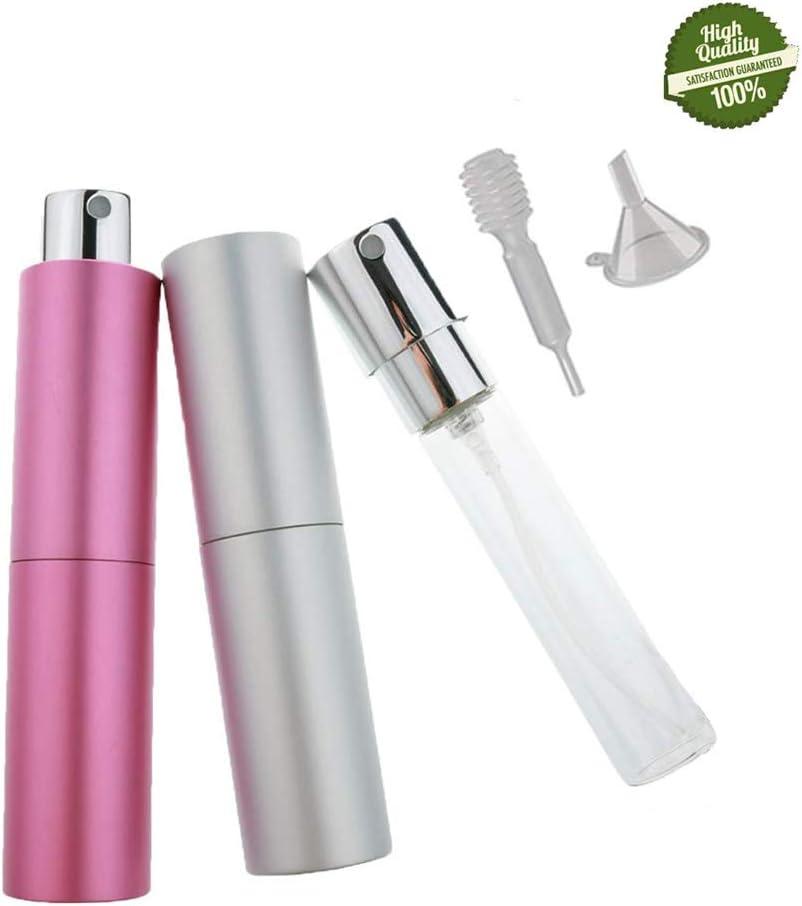 Atomizador de Perfume, Morbuy 2 Colores Mini Portátil Vacía Pulverizador Frascos Dosificador Recargable de Perfume de Afeitado con Bomba de Embudo y Pipeta para Viaje en Bolso: Amazon.es: Belleza