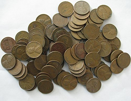 Wheat Roll Cent - 100 (2 Rolls) Lincoln Wheat Cents Pre-1959 Circulated