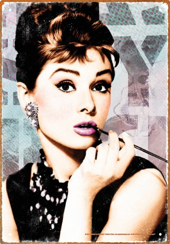 Aquarius Audrey Hepburn Close Up Tin -