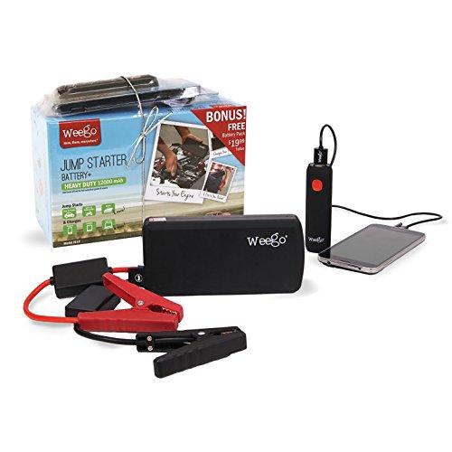 Weego Heavy Duty Jump Starter Battery with Bonus Battery Pack