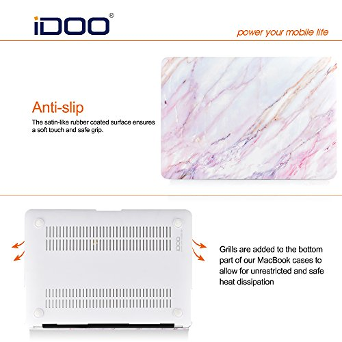 iDOO Soft Touch Hard Plastic Matte Case for MacBook Air 13 inch Model A1369 and A1466 - Pink Marble by iDOO (Image #3)