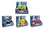 Paw Patrol 4 Pack Playsets Rocky's Recycling Truck Chase's Cruiser Rubble's Bulldozer Marshall's Fire Fightin' Truck