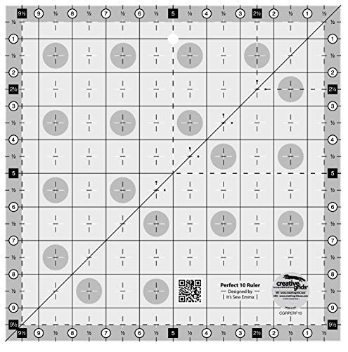 Quilt Ruler Grid - Creative Grids Perfect 10 Quilting Ruler (Original Version)