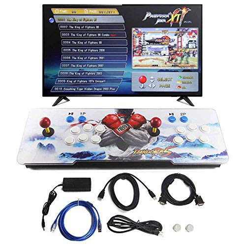 SupYaque Pandora Box Retro Video Arcade Games Console Support 3D Games with Built in 2706 Games Full HD 2 Players Joystick and Buttons (2706 in 1) from SupYaque