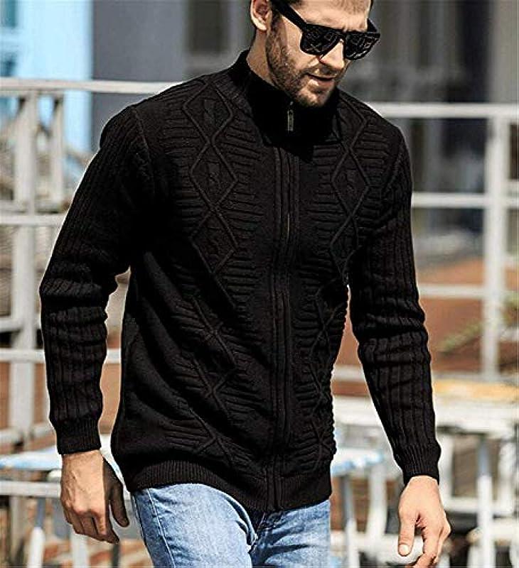 Męskie Strickjacke Cardigan Casual Stil Einfacher Kaschmir Herbst Plus Warm Winter Cardigan Strick Jacke Pullover Mantel: Odzież