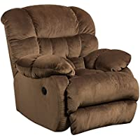 Flash Furniture Contemporary Sharpei Espresso Microfiber Power Recliner with Push Button