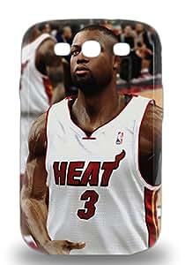 Rugged Skin Case Cover For Galaxy S3 Eco Friendly Packaging NBA Miami Heat Dwyane Wade #3 ( Custom Picture iPhone 6, iPhone 6 PLUS, iPhone 5, iPhone 5S, iPhone 5C, iPhone 4, iPhone 4S,Galaxy S6,Galaxy S5,Galaxy S4,Galaxy S3,Note 3,iPad Mini-Mini 2,iPad Air )