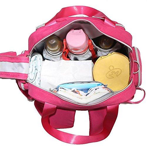 HTTMYY Mummy Bags Messenger Portable MultifuncióN De Alta Capacidad Ampliar La Correa De Hombro Madre Y Bolsa De Bebé , 001 001