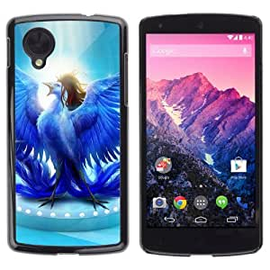 Lmf DIY phone case [Glorious Blue Bird] LG Google Nexus 5 CaseLmf DIY phone case