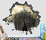Dark Souls Video Games 3D Wall Decal Sticker Vinyl Decor Door Window Poster Mural - Broken Wall - 3D Designs - OP14 (Large (Wide 40' x 36' Height))