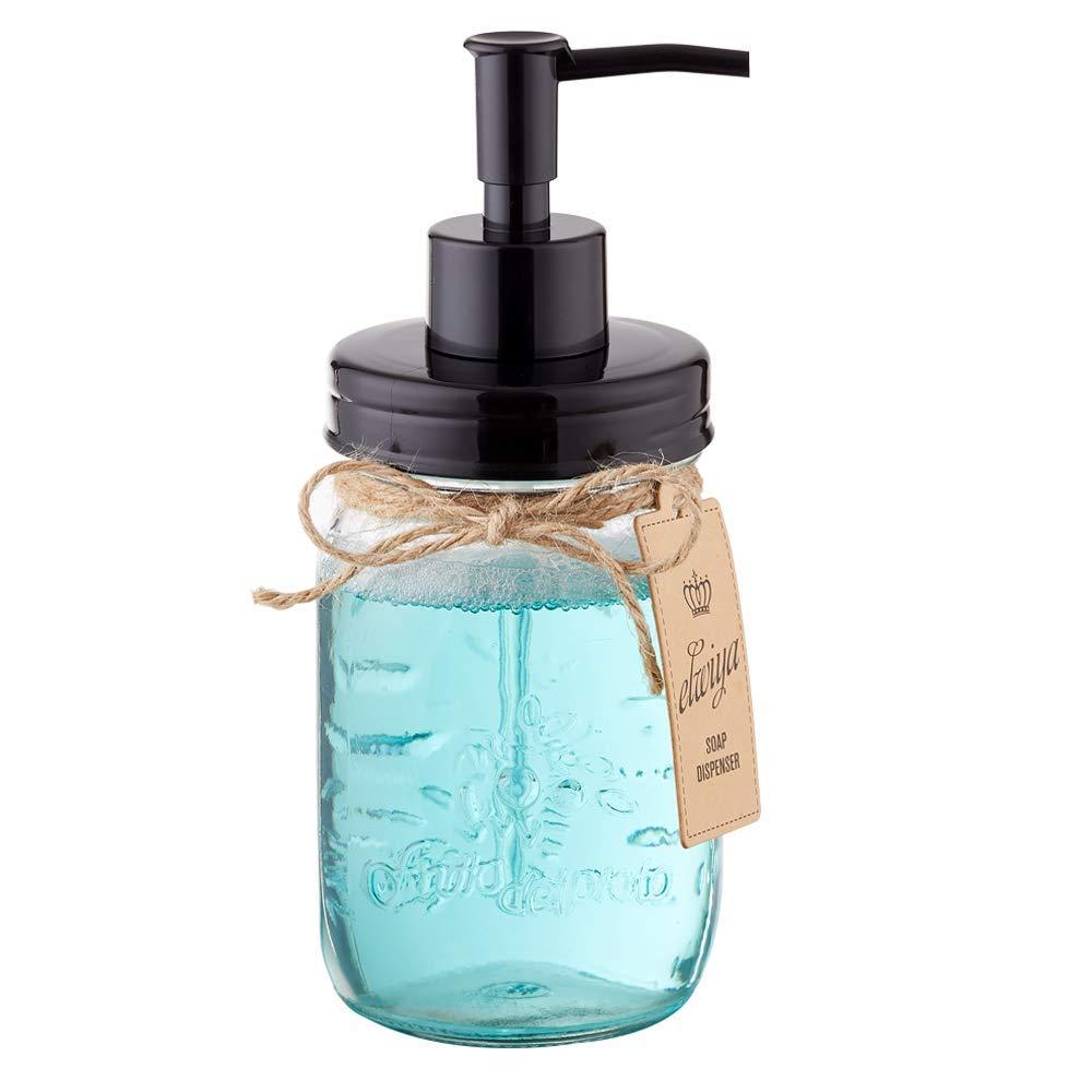 Plastic For 16 Oz Rustic//Farmhouse Mason Jar Soap Dispenser Lid And Pump Proof