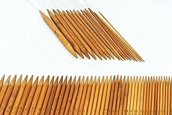 Wooden Knitting Needles Pair 8 mm