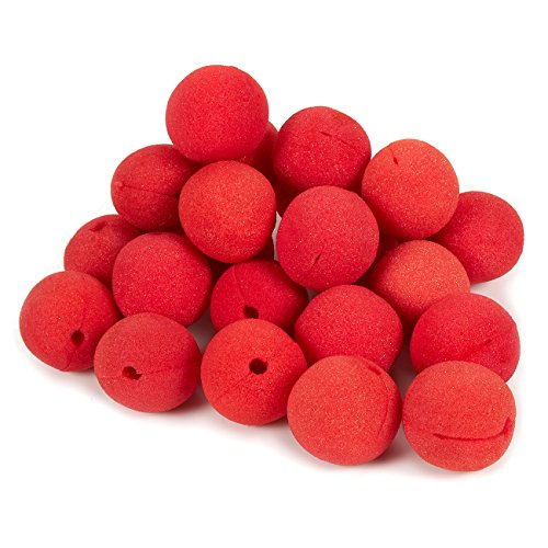 24-Pack of Clown Noses - Circus Themed Birthday Party Supplies, Foam Red Noses, Carnival Party Dress Up, Red - 2 x 2 x 2 Inches (Clown Supplies Professional)
