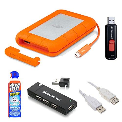 LaCie (9000490) 250GB SSD Rugged Thunderbolt & USB 3.0 External SSD Hard Drive + 4GB Flash Drive Accessory (Lacie 500 Gb Firewire)