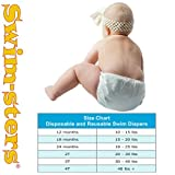 My Pool Pal Disposable Swim Diaper, White, 12 Months