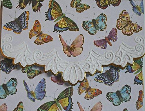 Carol Wilson Fine Arts Butterflies Blank 10 Card Set Portfolio
