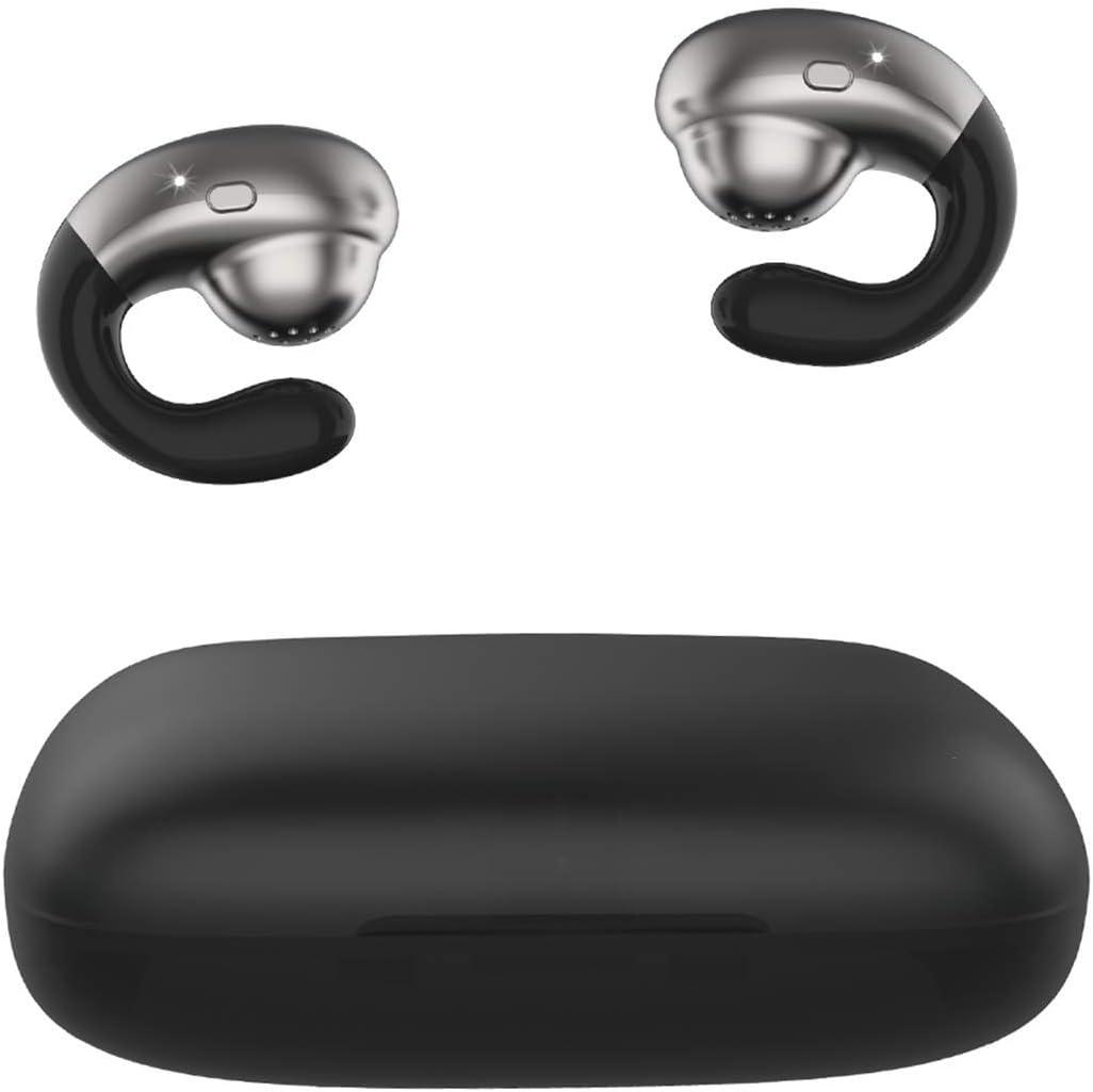 【2020 Nuevo】 Bluetooth Auriculares,AIDERLOT Auriculares Semi in-Ear inalámbricos Bluetooth 5.0 Deporte,3D estéreo,Desgaste sin Dolor,2200mAh batería,para iPhone Android Huawei Samsung(Negro)