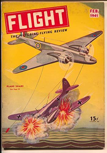 Warplanes Wwii - Flight #2 2/1941-Gernsback-fantasy air war cover-WWII-warplanes-Nazi-FN/VF
