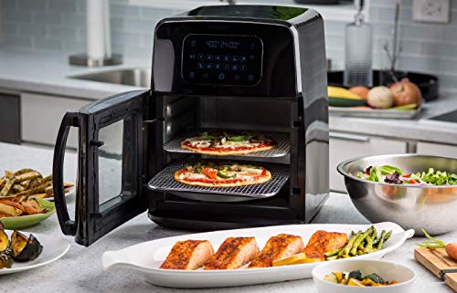 Modernhome 8Qt Premium Digital Air Fryer Toaster Oven with Auto-Stirring, Rotating Rotisserie, Full Accessories Set with Skewers, Pans, Multiple Shelves and Recipe Cookbook - Bake, Roast, Fry and Grill Your Favorite Meals with Up to 90% Less Fat by Modernhome (Image #1)