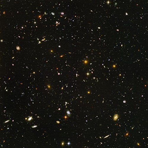 Photo Metallic Astronomy Poster   Hubble Ultra Deep Field Image Reveals Galaxies Galore 24 X24