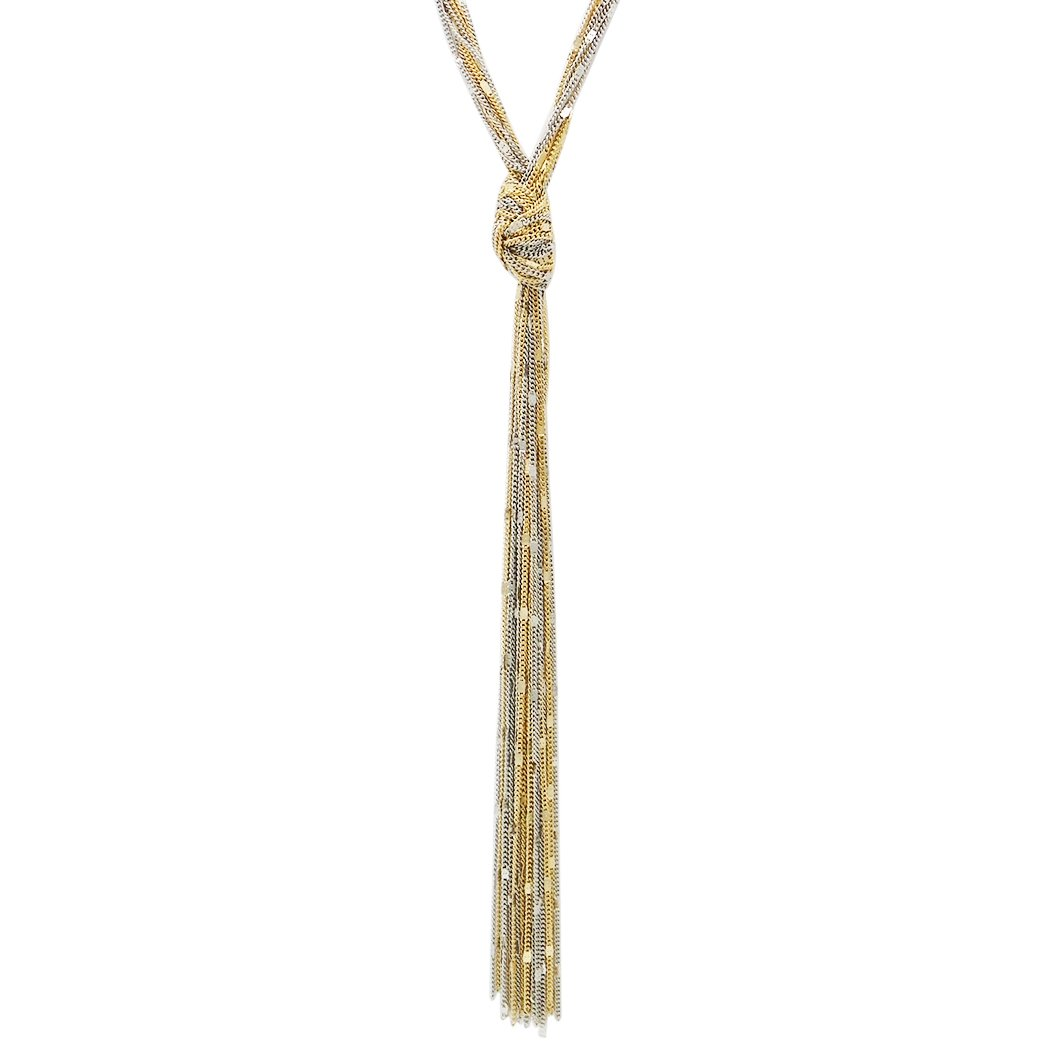 Rosemarie Collections Women's Fashion Jewelry Multi Strand Long Tassel Necklace (Two Tone) by Rosemarie Collections