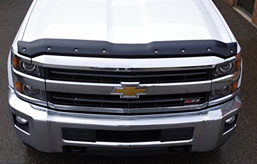 FormFit Smooth Black Tough Guard Hood Protector Bug Shield Deflector Fits 2015-2018 Chevrolet Silverado 2500 3500 (Does NOT Fit 2017-2018 Duramax Diesel)